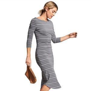 Athleta • Comeback Striped Midi Dress